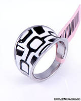 Красивое кольцо с рисунком эмаль