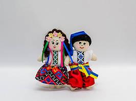 """Текстильный магнит пара """"Украина"""""""