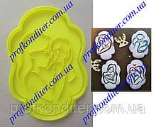 Вирубка з відбитком Рамка з силуетом Мами з дитиною №1