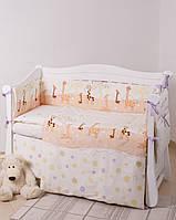 Постельное в кроватку для новорожденных Twins New Comfort Жирафы