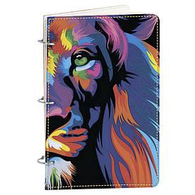 Блокнот Fisher Gifts Элегант А5 15 Цветной лев (эко-кожа)