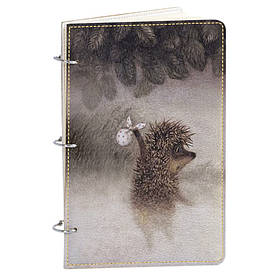 Блокнот v.1.0. А5 Fisher Gifts 39 Ежик в тумане (эко-кожа)