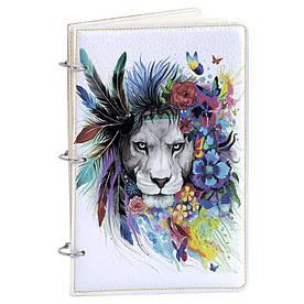 Блокнот v.1.0. А5 Fisher Gifts 124 Цветной лев (эко-кожа)