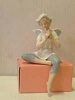 """JP-49/ 8 Фарфоровая статуэтка фигурка на полку """"Фея"""" итальянской компании Pavone 15,5 сантиметров высота"""
