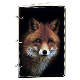 Блокнот v.1.0. А5 Fisher Gifts 186 Лисичка в темноте (эко-кожа)