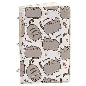 Блокнот v.1.0. А5 Fisher Gifts 195 Толстые коты фон (эко-кожа)