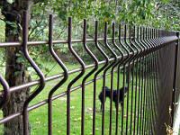 """Панельный забор из сварной сетки """"Рубеж"""", цвет  - коричневый, фото 1"""