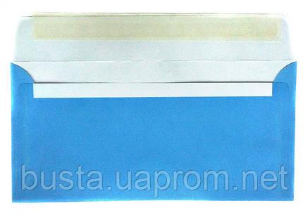 Конверт голубой Е65 с клейкой лентой, фото 2