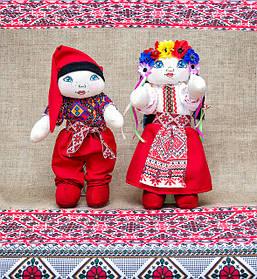 Куклы в украинских национальных костюмах