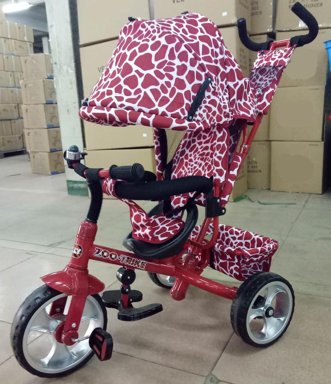 Велосипед трехколесный TILLY ZOO-TRIKE T-342 DARK RED