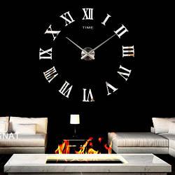 Настенные часы 3D, большие наклейки   Зеркальный эффект