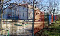 """Панельный забор из сварной сетки """"Рубеж"""", разные цвета, фото 1"""