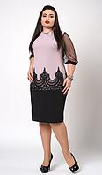 """Платье """"Виталия"""" размеры 50-52 бледно-сиреневое"""