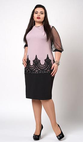 """Платье """"Виталия"""" размеры 50-52 бледно-сиреневое, фото 2"""