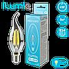 Светодиодная филаментная лампа Ilumia Свеча на ветру 4Вт, цоколь Е14, 3000К (теплый белый), 400Лм (060)