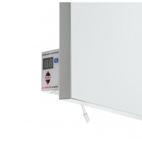 Керамический обогреватель с терморегулятором (моно цвета) - белый 500 Вт.10 м.кв. Теплокерамик TCM-RA 500