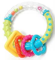 Игрушка-погремушка Baby Team Чудо-кольцо Разноцветная (8441)