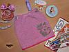 Шапка для девочек с ушками Польша темно-розовый
