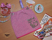 Шапка для девочек с ушками Польша темно-розовый, фото 1