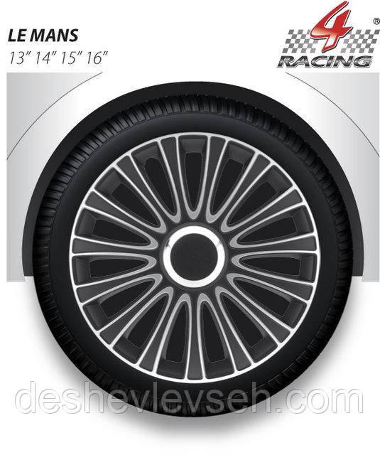 Колпаки Argo R13 LEMANS PRO silver black (черн, хром кольцо), (ARGO)