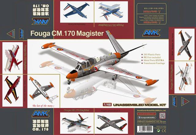 1/48 AMK #88004 - FOUGA CM.170 Magister