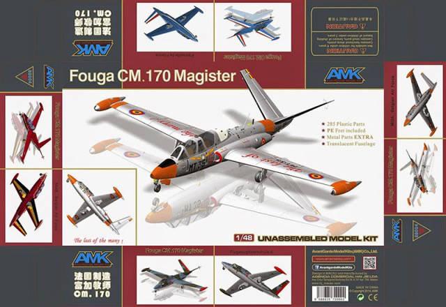 1/48 AMK #88004 - FOUGA CM.170 Magister, фото 2