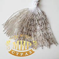 Стеклярусные нити Silver, длинна 8см (10штук)