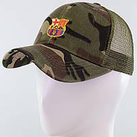 """Стильная детская бейсболка с вышитой эмблемой футбольного клуба """"Барселона"""" камо, фото 1"""