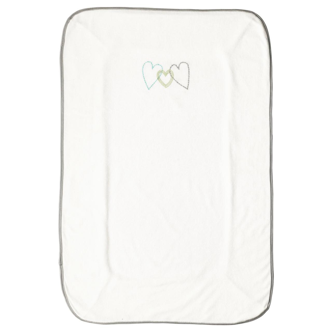 СКЁТСАМ Чехол для пеленальной подстилки, белый, серый, 55x83 см 00360479 IKEA, ИКЕА, SKÖTSAM
