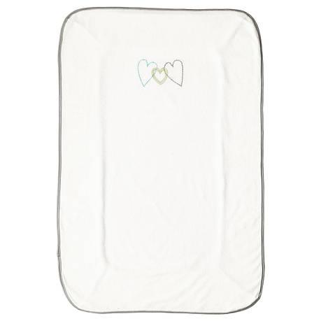 СКЁТСАМ Чехол для пеленальной подстилки, белый, серый, 55x83 см 00360479 IKEA, ИКЕА, SKÖTSAM, фото 2
