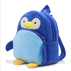 Рюкзак детский плюшевый Пингвин