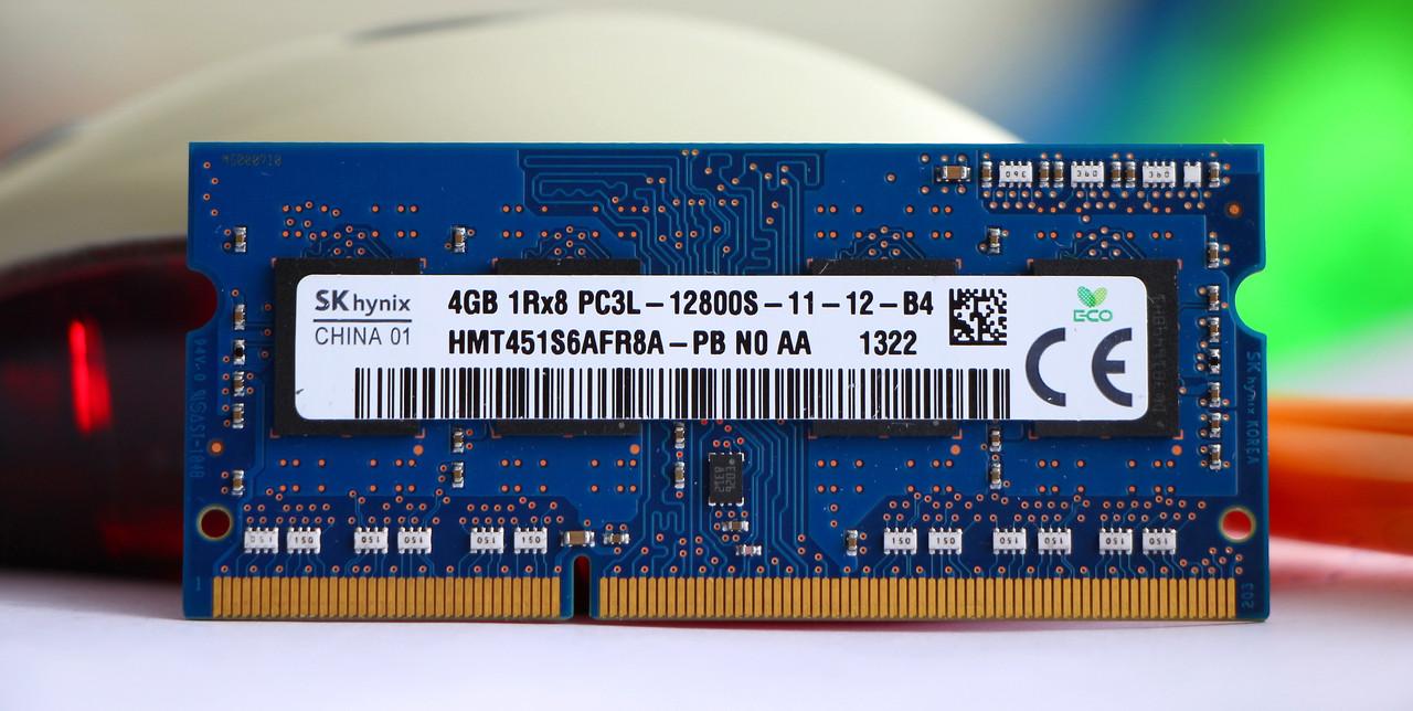 Оперативная память для ноутбука Hynix DDR3 4GB PC3L-12800S 1.35V SODIMM (б/у)