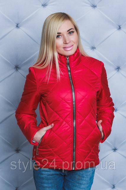 Жіноча весняна стегана куртка.Р-ри 42-58  продажа c4e62a32c1c11