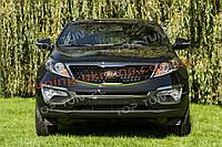 Накладки на передний бампер (листвы) для Kia Sportage 3 2010-2015, фото 1