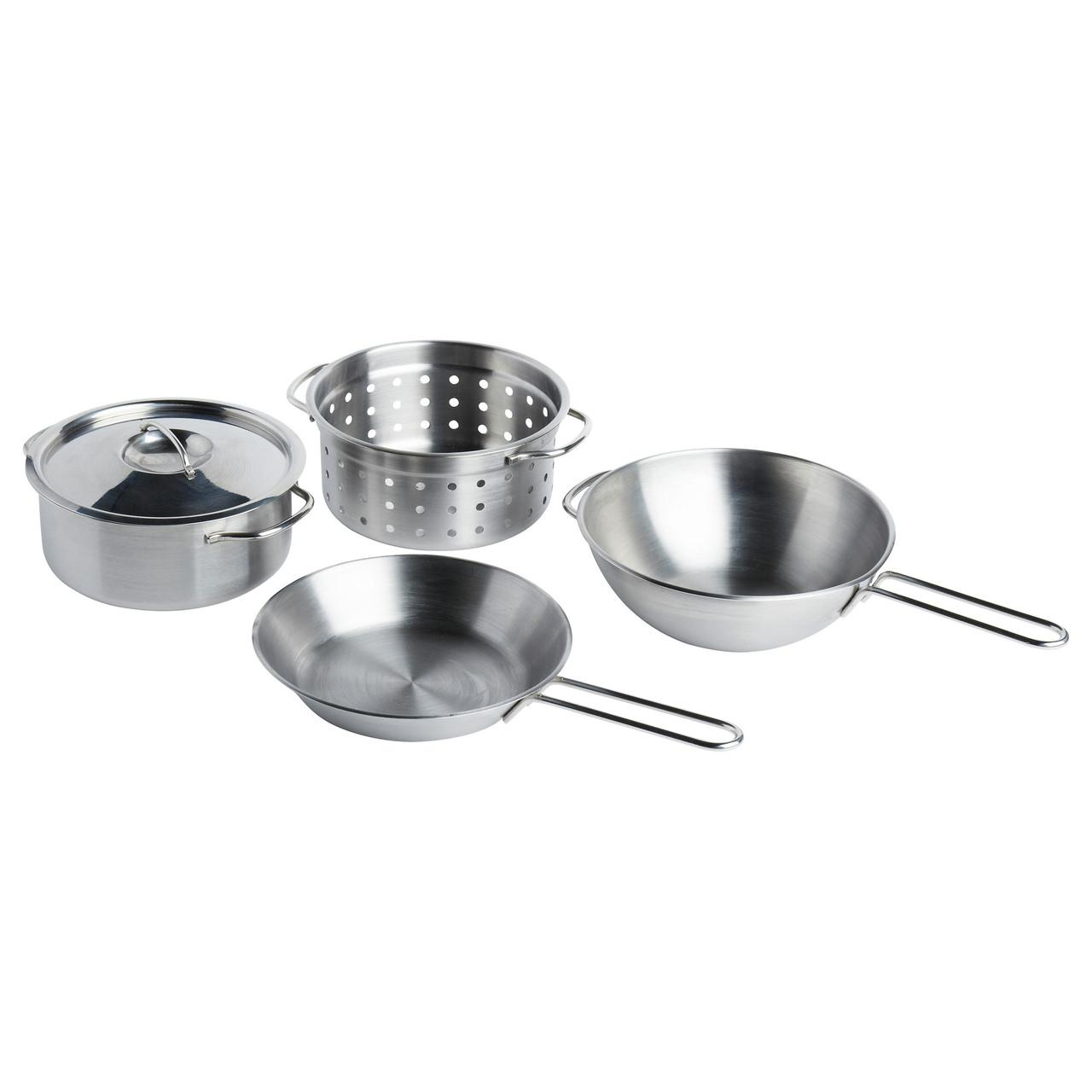 ДУКТИГ Игрушечная посуда, 5 предм., нержавеющая стали 00130167 IKEA, ИКЕА, DUKTIG
