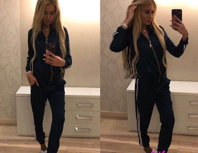 Женский атласный спортивный костюм черный  продажа, цена в Украине ... dee62c38671