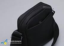 Сумка мужская текстильная через плечо маленькая черная Nuoxiya, фото 2