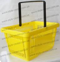 Корзина покупательская 430х300х225 мм, желтая
