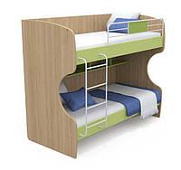 Кровать двухъярусная Кв-12 Акварели зеленые