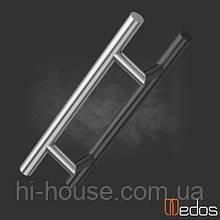 Ручка офисная SS прямая 1400 мм (нержавеющая сталь) крепление под 45°