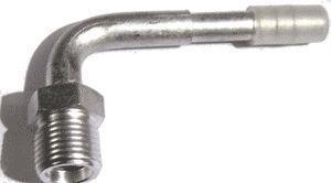 Фитинг алюминиевый №6 (8мм) ответный угловой 90° с наружной резьбой