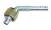 Фитинг алюминиевый №6 (8мм) угловой 45° с накидной гайкой. O‐ring (кольцо)