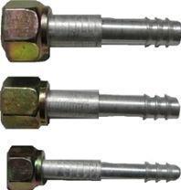 Фитинг алюминиевый №8 (10мм) прямой 0° с накидной гайкой. O‐ring (кольцо)
