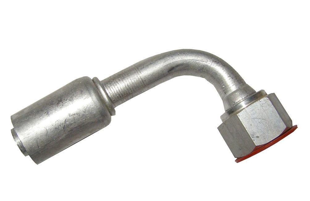 Фитинг сталь №6 (8мм) угловой 90° с накидной гайкой. O‐ring (кольцо)