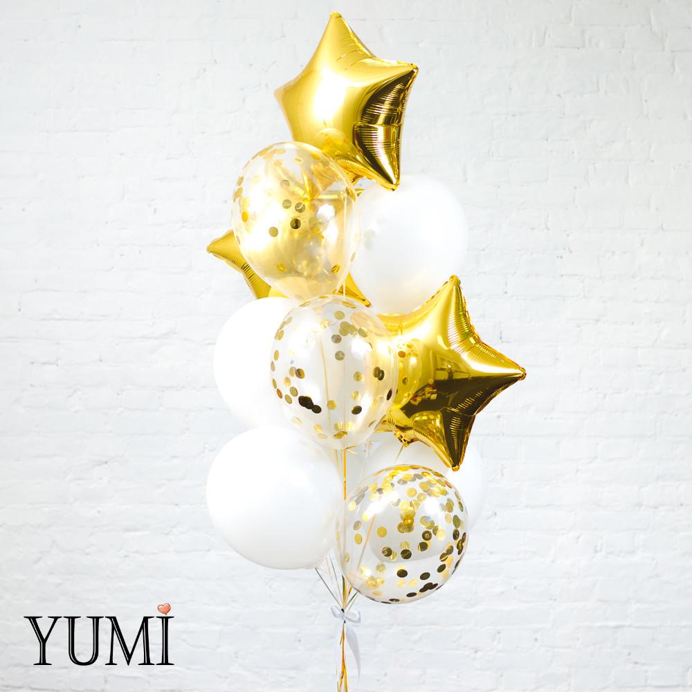Композиция из 13 воздушных шаров с гелием