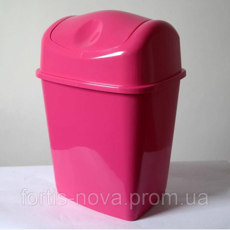Ведро для мусора пластиковое с поворотной крышкой 10 литров