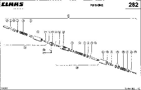 ГИДРОЦИЛИНДР, РЕГУЛИРОВКА ОБОРОТОВ ДВИГАТЕЛЯ - CLAAS LEX 460-440 (3)