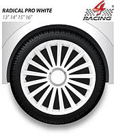 Колпаки Argo R13 RADICAL PRO WHITE (бел. хром. кольцо) (ARGO)