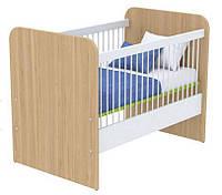 Кроватка для новорожденного под матрас 600х1200 Кв-50 Акварели зеленые
