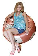 Бескаркасное кресло мяч пуф мягкая мебель для девочек